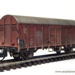 """Widok ukończonego modelu wagonu """"Dresden"""""""