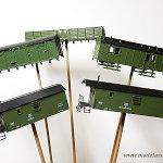 Pomalowane wagony gospodarcze